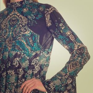 Free People Brand New Lady Luck Printed Tunic!!!